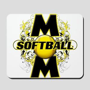 Softball Mom (cross) Mousepad