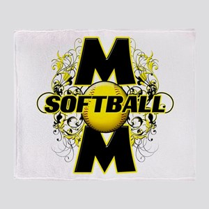Softball Mom (cross) Throw Blanket