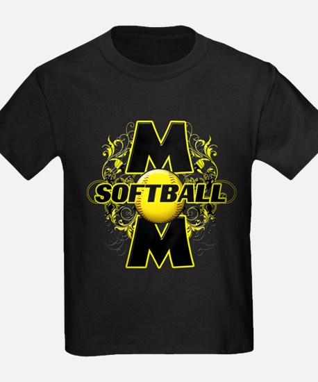 Softball Mom (cross) T