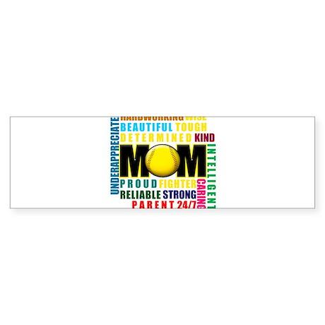 A Softball Mom Sticker (Bumper)