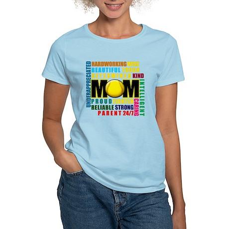 A Softball Mom Women's Light T-Shirt