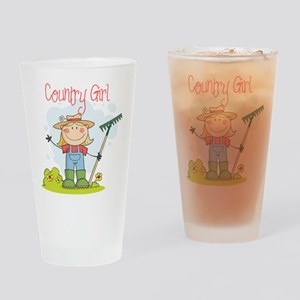 Country Girl Drinking Glass