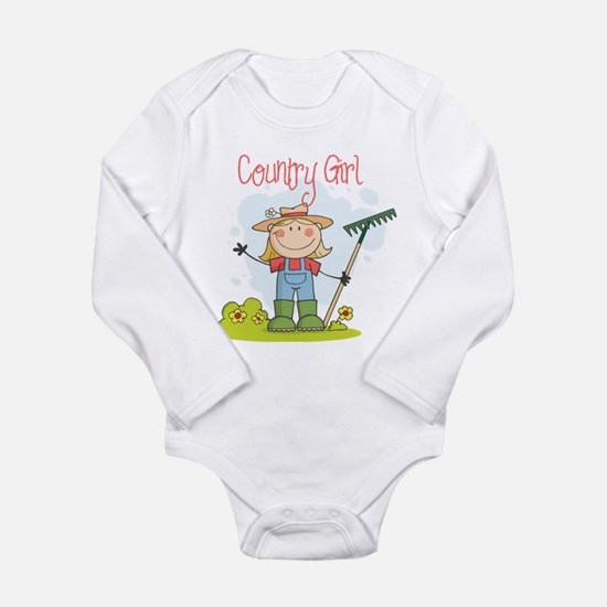 Country Girl Long Sleeve Infant Bodysuit