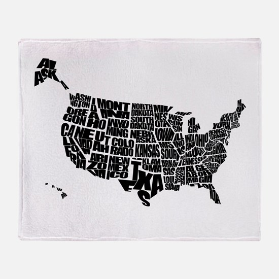 Typography map throw blankets typography map fleece blankets word maps throw blanket publicscrutiny Choice Image