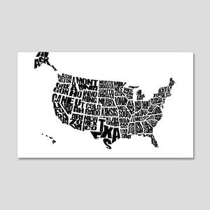 Word Maps 22x14 Wall Peel
