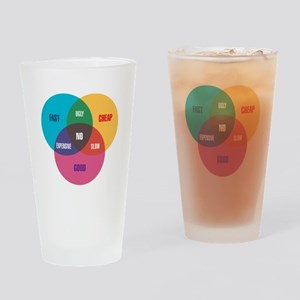 Designer's Venn Diagram Drinking Glass
