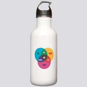 Designer's Venn Diagram Stainless Water Bottle 1.0