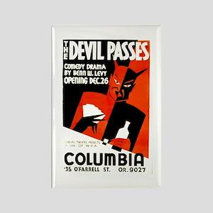 The Devil Passes WPA Poster Rectangle Magnet
