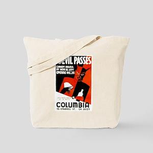 The Devil Passes WPA Poster Tote Bag