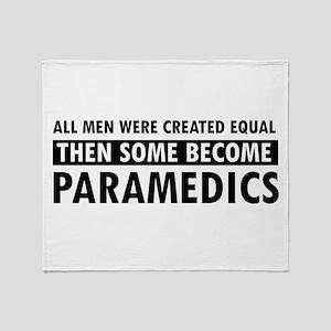 Paramedic design Throw Blanket