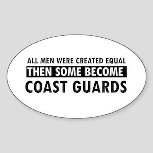 Coast Guard design Sticker (Oval)