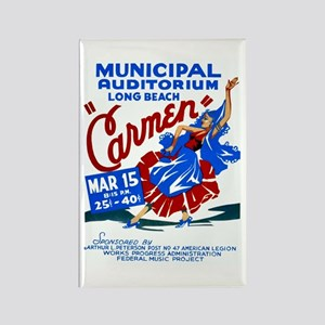 Carmen WPA Poster Rectangle Magnet