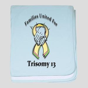 Trisomy 13 United baby blanket
