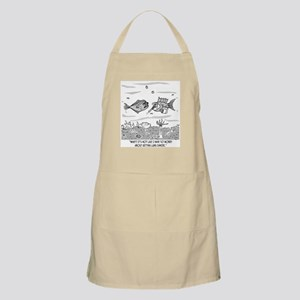 Fish Worries About Lung Cancer Apron