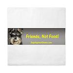 Friends, Not Food Queen Duvet
