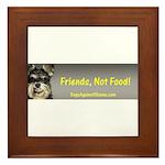 Friends, Not Food Framed Tile