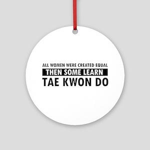 Taekwondo designs Ornament (Round)