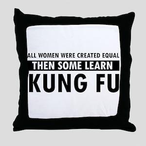 Kungfu design Throw Pillow