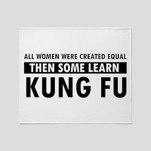 Kungfu design Throw Blanket