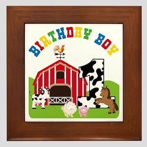 Barnyard 1st Birthday Framed Tile
