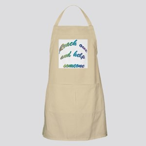 Reach Out Help Someone BBQ Apron