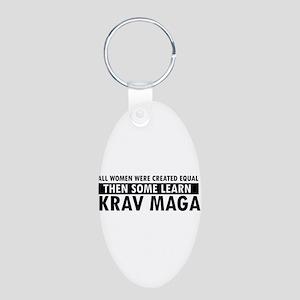 Krav Maga design Aluminum Oval Keychain