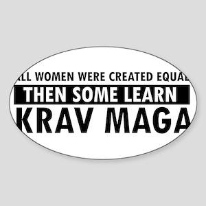 Krav Maga design Sticker (Oval)