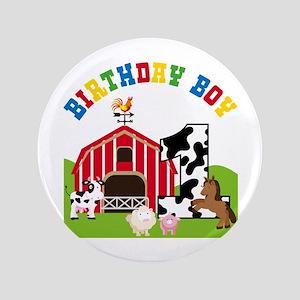 Barnyard 1st Birthday Button