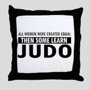 Judo design Throw Pillow