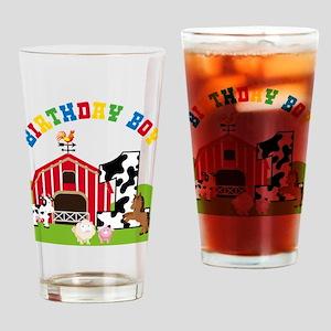 Barnyard 1st Birthday Drinking Glass