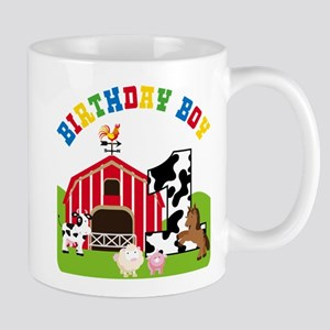 Barnyard 1st Birthday Mugs