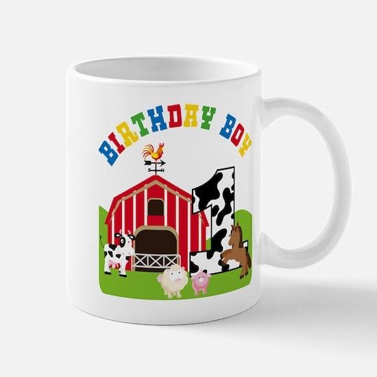 Barnyard 1st Birthday Mugs