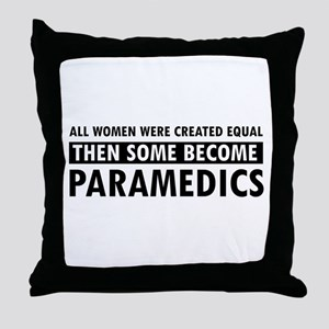 Paramedic design Throw Pillow