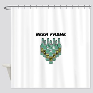 Beer Frame Bowling Shower Curtain