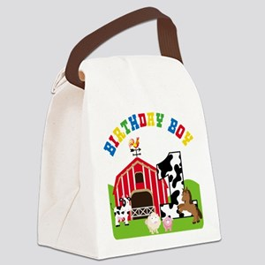 Barnyard 1st Birthday Canvas Lunch Bag