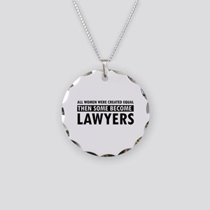 Lawyer design Necklace Circle Charm
