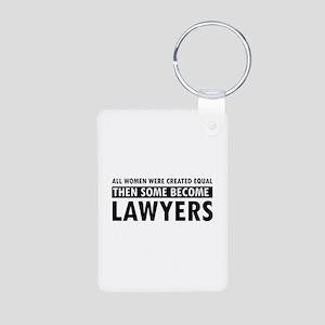 Lawyer design Aluminum Photo Keychain