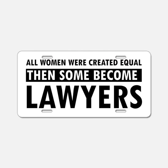 Lawyer design Aluminum License Plate