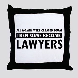 Lawyer design Throw Pillow