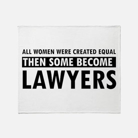 Lawyer design Throw Blanket