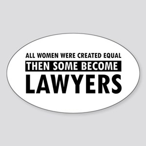 Lawyer design Sticker (Oval)