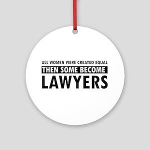 Lawyer design Ornament (Round)