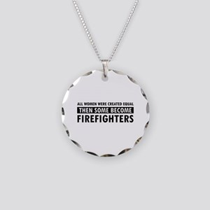 Firefighter design Necklace Circle Charm