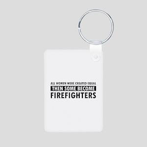 Firefighter design Aluminum Photo Keychain
