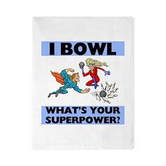 Bowling Superheroes Twin Duvet