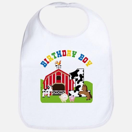 Barnyard 1st Birthday Baby Bib