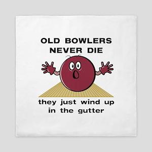 Old Bowlers Never Die Queen Duvet