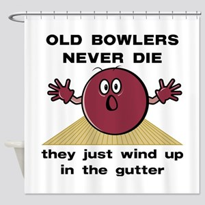 Old Bowlers Never Die Shower Curtain