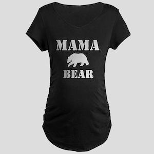 Papa Mama Baby Bear Maternity Dark T-Shirt