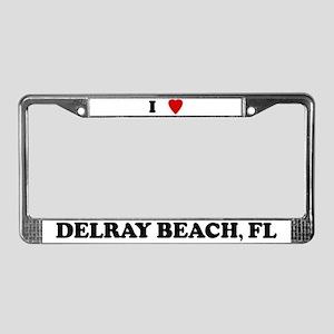 I Love Delray Beach License Plate Frame